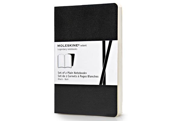 Moleskine Volant Notebook (Set of 2 ), Pocket, Plain, Black, Soft Cover (3.5 x 5.5) (Volant Notebooks) Cover Image