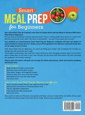 Smart Meal Prep for Beginners: Collection of Quick and Easy Recipes for Tasty and Healthy Make-Ahead Meals That Will Make Your Life Easier (Meal Prep Cover Image