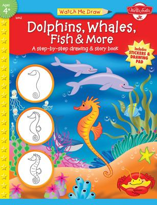 Dolphins, Whales, Fish & More [With Drawing PadWith Stickers] Cover