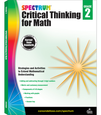 Spectrum Critical Thinking for Math, Grade 2 Cover Image
