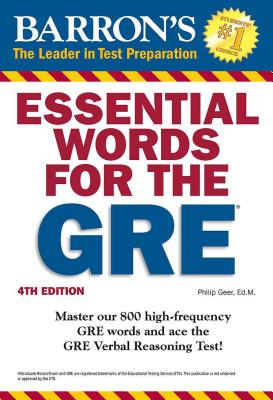 Essential Words for the GRE (Barron's Test Prep) Cover Image