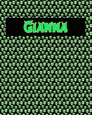 120 Page Handwriting Practice Book with Green Alien Cover Gianna: Primary Grades Handwriting Book Cover Image