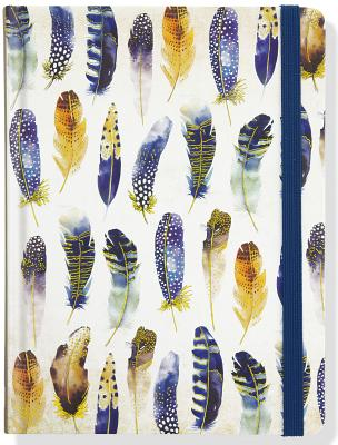Jrnl Mid Watercolor Feathers Cover Image
