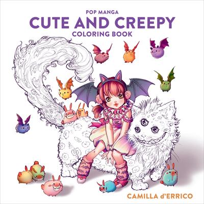 Pop Manga Cute and Creepy Coloring Book Cover Image