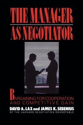 Cover for Manager as Negotiator