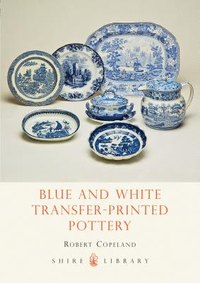 Blue and White Transfer-Printed Pottery Cover