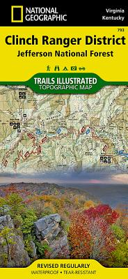 Clinch Ranger District [jefferson National Forest] (National Geographic: Trails Illustrated Maps #793) Cover Image