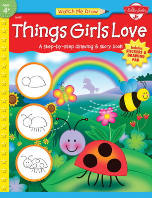 Things Girls Love [With Drawing PadWith Stickers] Cover