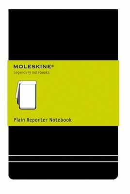 Moleskine Reporter Notebook, Pocket, Plain, Black, Hard Cover (3.5 x 5.5) (Reporter Notebooks) Cover Image