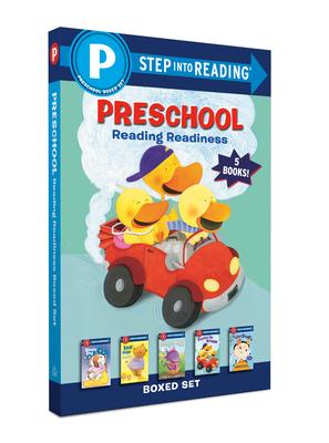 Preschool Reading Readiness Boxed Set: Sleepy Dog, Dragon Egg, I Like Bugs, Bear Hugs, Ducks Go Vroom (Step into Reading) Cover Image