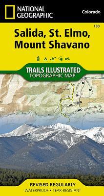 Salida, St. Elmo, Mount Shavano (National Geographic Trails Illustrated Map #130) Cover Image