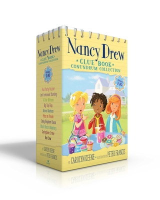 Nancy Drew Clue Book Conundrum Collection: Pool Party Puzzler; Last Lemonade Standing; A Star Witness; Big Top Flop; Movie Madness; Pets on Parade; Candy Kingdom Chaos; World Record Mystery; Springtime Crime; Boo Crew Cover Image