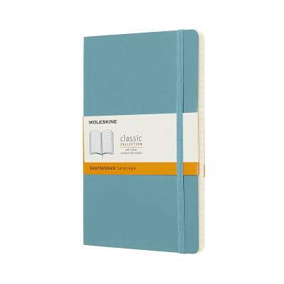 Moleskine Classic Notebook, Large, Ruled, Blue Reef, Soft Cover (5 x 8.25) Cover Image