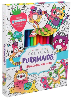 Kaleidoscope Coloring: Purrmaids, Llamacorns, and More! Cover Image