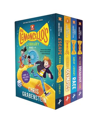 Mr. Lemoncello's Library Books 1-4 (Boxed Set) Cover Image