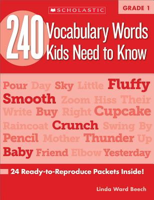 240 Vocabulary Words Kids Need to Know: Grade 1: 24 Ready-to-Reproduce Packets Inside! Cover Image