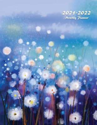 2021-2022 Monthly Planner: Large Two Year Planner with Beautiful Coloring Pages (Volume 5) Cover Image