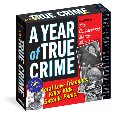 Cover for A Year of True Crime Page-A-Day Calendar 2022