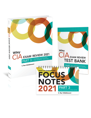 Wiley CIA Exam Review 2021 + Test Bank + Focus Notes: Part 3, Business Knowledge for Internal Auditing Set Cover Image