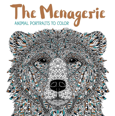 The Menagerie: Animal Portraits to Color Cover Image