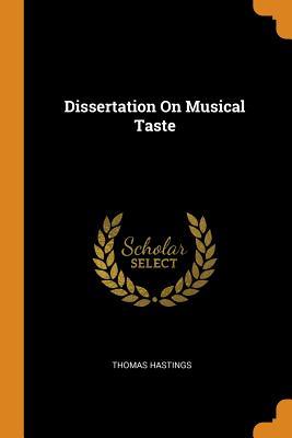 Dissertation on Musical Taste Cover Image
