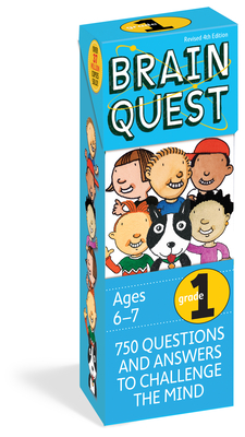 Brain Quest 1st Grade Q&A Cards: 750 Questions and Answers to Challenge the Mind. Curriculum-based! Teacher-approved! (Brain Quest Decks) Cover Image