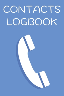 Contacts Logbook: Address Book Journal Notebook with Customisable Tabs Cover Image