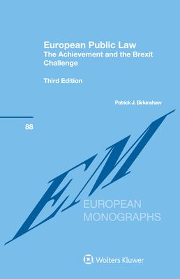 European Public Law: The Achievement and the Brexit Challenge Cover Image