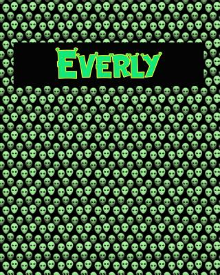 120 Page Handwriting Practice Book with Green Alien Cover Everly: Primary Grades Handwriting Book Cover Image