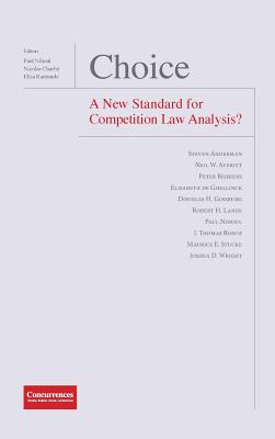 Choice - A New Standard for Competition Law Analysis? Cover Image