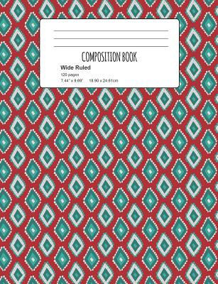 Composition Book: Diamond Pattern Composition Notebook Wide Ruled 7.5 x 9.7 in, 120 pages book for girls, school kids, students and teac Cover Image