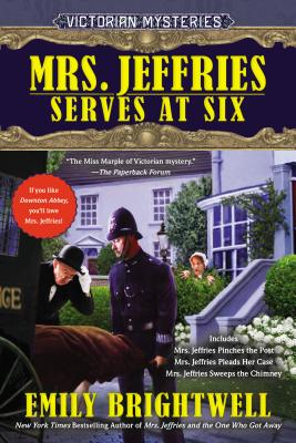 Mrs. Jeffries Serves at Six (A Victorian Mystery) Cover Image