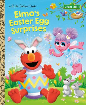 Elmo's Easter Egg Surprises (Sesame Street) (Little Golden Book) Cover Image