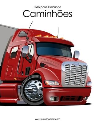 Livro para Colorir de Caminhões Cover Image