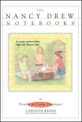 Cover for Trouble at Camp Treehouse (Nancy Drew Notebooks #7)
