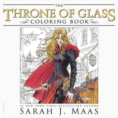 The Throne of Glass Coloring Book Cover Image