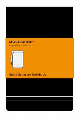 Moleskine Reporter Notebook, Large, Ruled, Black, Hard Cover (5 x 8.25) (Reporter Notebooks) Cover Image