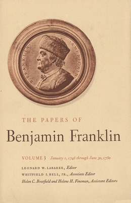 Cover for The Papers of Benjamin Franklin, Vol. 3