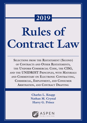 Rules of Contract Law: 2019-2020 (Supplements) Cover Image