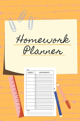 Homework Planner: Over 110 Pages / Over 15 Weeks; 6 x 9 Format Cover Image