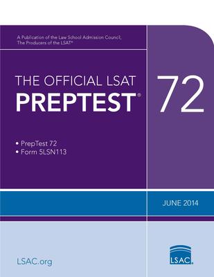 The Official LSAT Preptest 72: (June 2014 Lsat) Cover Image