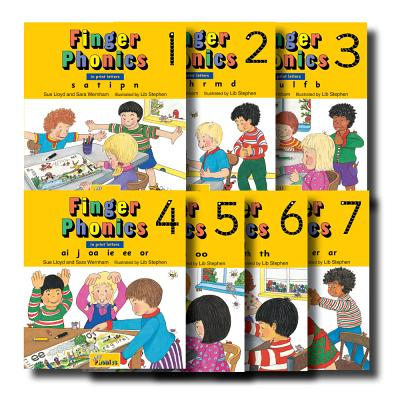 Finger Phonics, Books 1-7: In Print Letters Cover Image