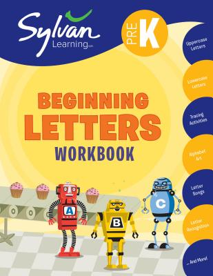 Pre-K Beginning Letters (Sylvan Workbooks) Cover