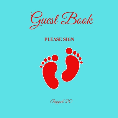 Baby Boy Shower Guest Book: Color pages Cover Image