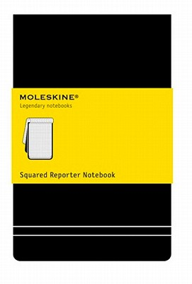 Moleskine Reporter Notebook, Large, Squared, Black, Hard Cover (5.25 x 8.25) Cover Image