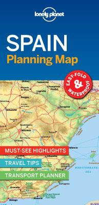 Lonely Planet Spain Planning Map 1 (Planning Maps) Cover Image