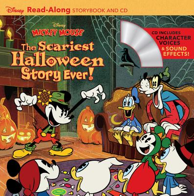Disney Mickey Mouse: The Scariest Halloween Story Ever! Read-Along Storybook and CD Cover Image