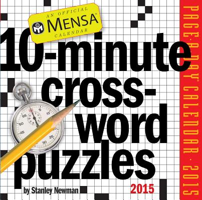 Cover for Mensa 10-Minute Crossword Puzzles 2015 Page-A-Day Calendar