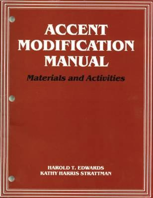 Accent Modification Manual: Materials and Activities Cover Image