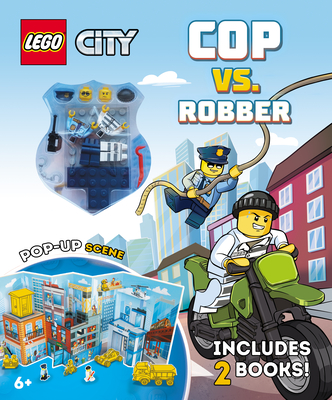 High-Speed Chase: Cop vs. Robber [With 2 Lego Minifigures] Cover Image